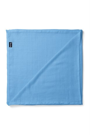 Banndu Organic Cotton Muslin Blanket - Denim