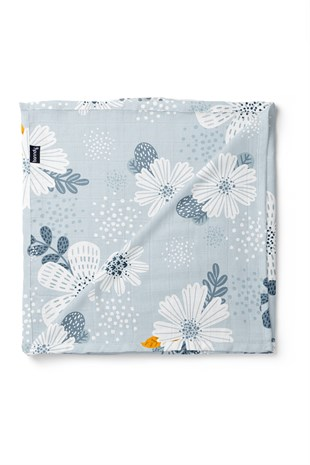 Banndu Organic Cotton Blanket - Garden the Grey