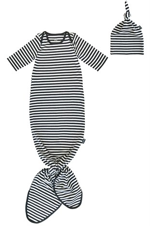Banndu Knotted Gown & Hat - Grand Stripes